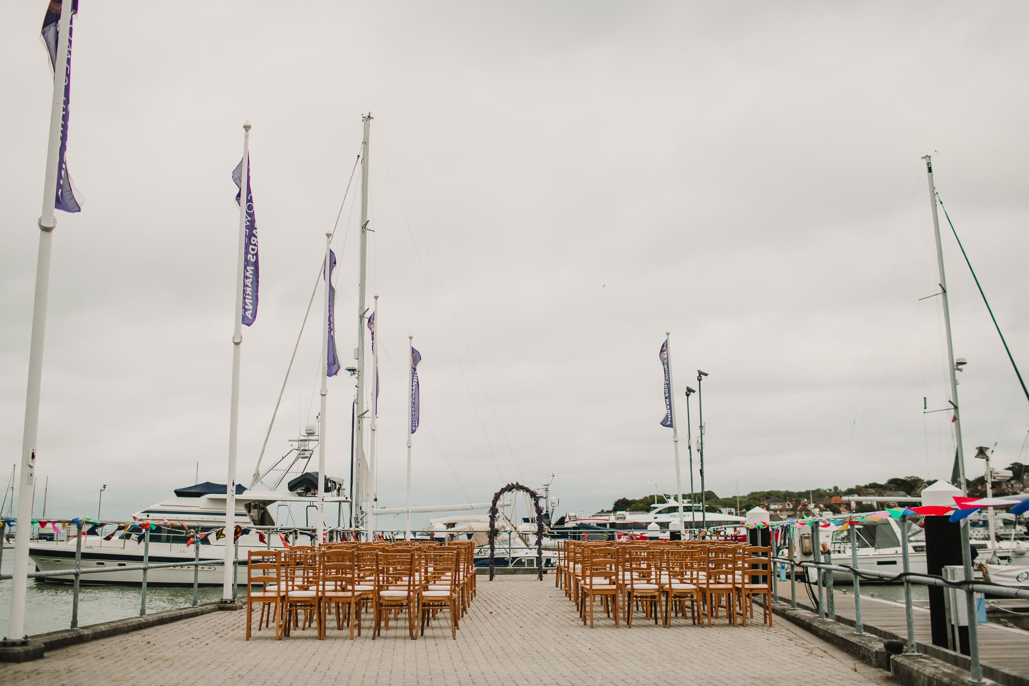 ceremony space on pier