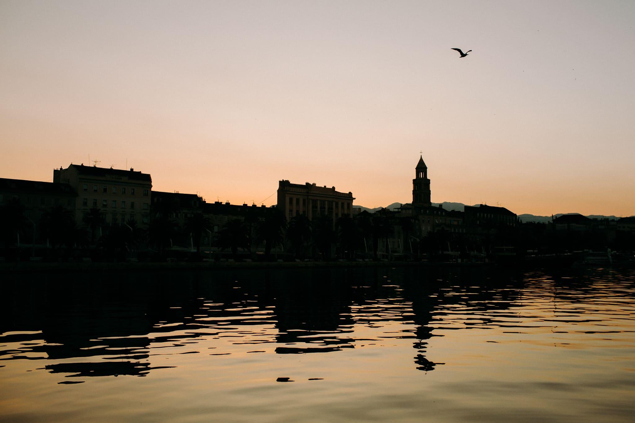 sun rise in split in croatia